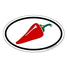 Hot Pepper Euro Oval Decal