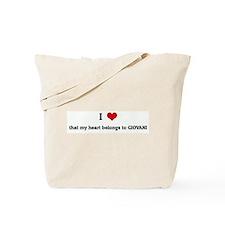 I Love that my heart belongs Tote Bag