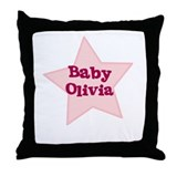 Baby Olivia Throw Pillow
