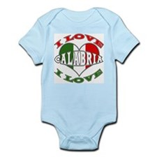 Italian I Love Calabria Infant Creeper