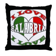 Italian I Love Calabria Throw Pillow