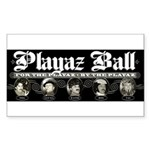 Playaz Wear Rectangle Sticker
