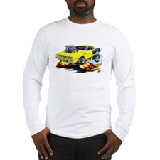 1971-72 Hemi Cuda Yellow Car Long Sleeve T-Shirt