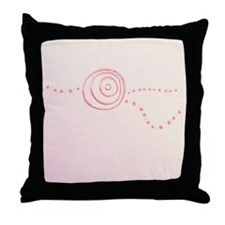 Pink Rose Eye Throw Pillow