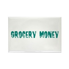 Grocery Money Rectangle Magnet
