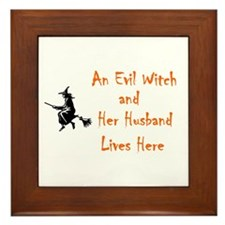 """Funny Witch"" Framed Tile"