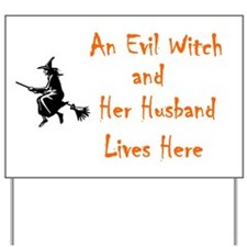 """Funny Witch"" Yard Sign"