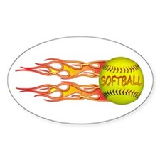 Side fire soft Oval Sticker (10 pk)
