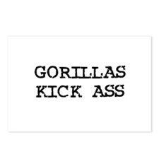 Gorillas Kick Ass Postcards (Package of 8)