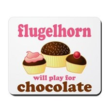 Funny Chocolate Flugelhorn Mousepad