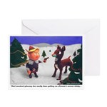 Pissed at Rudolph Christmas Cards (Pk of 10)