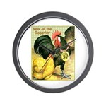 Year Of The Rooster2 Wall Clock