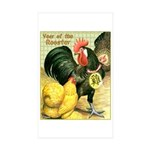 Year Of The Rooster2 Rectangle Sticker 50 pk)