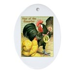 Year Of The Rooster2 Oval Ornament