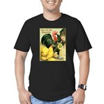 Year Of The Rooster2 Men's Fitted T-Shirt (dark)