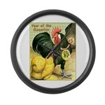 Year Of The Rooster2 Large Wall Clock