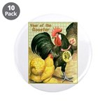"Year Of The Rooster2 3.5"" Button (10 pack)"