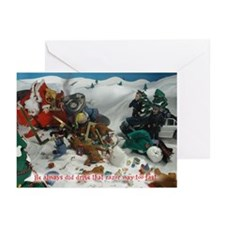 Cute Sick twisted santa Greeting Cards (Pk of 10)