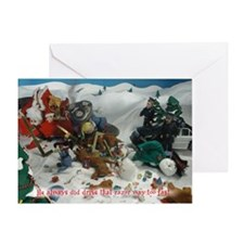 Razor:SleighCrash Greeting Cards
