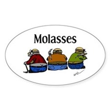 Molasses Oval Decal