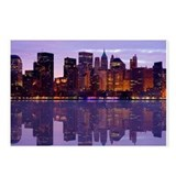 Manhattan Cityscape Reflectio Postcards (Package o