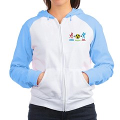 Super Powers Women's Raglan Hoodie