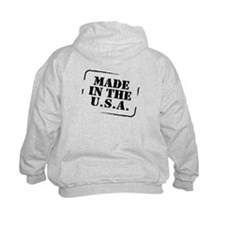 Made USA (font and back) Hoodie