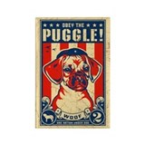 Obey the PUGGLE! USA propaganda Magnet