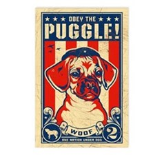 Obey the PUGGLE! Postcards (Package of 8)