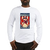 Puggle Propaganda USA Long Sleeve T-Shirt