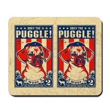 Obey the PUGGLE! USA Freedom Mousepad