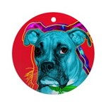 Boxer dog Ornament (Round)