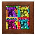 Boxer dog Framed Tile