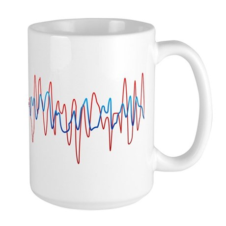 Sound Waves Large Mug