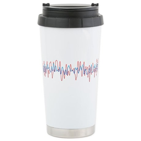 Sound Waves Ceramic Travel Mug
