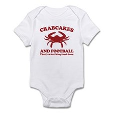 Crabcakes and Football Infant Bodysuit