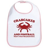 Crabcakes and Football Bib