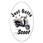 Just Gotta Scoot Joker Oval Sticker