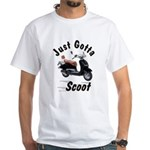 Just Gotta Scoot Joker White T-Shirt