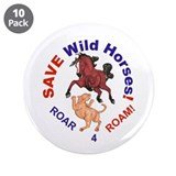 "Bay Stallion & Lion Roar for ROAM 3.5"" Button (10"
