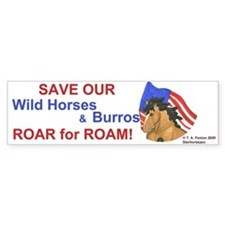 Horse Head Roar for Roam Bumper Bumper Sticker