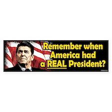 A REAL President Bumper Bumper Sticker