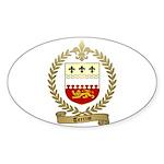 TERRIOT Family Crest Oval Sticker (50 pk)