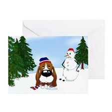 Basset Hound Holiday Greeting Cards (Pk of 20)