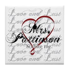 Funny Robert pattinson Tile Coaster