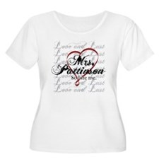 MrsPattinsonRibbonHeart Plus Size T-Shirt
