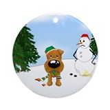 Irish Terrier Holiday Ornament (Round)