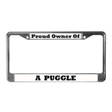 Puggle License Plate Frame