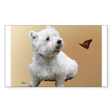 West Highland White Terrier Rectangle Sticker 10