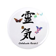 "Celebrate Reiki 3.5"" Button (100 pack)"
